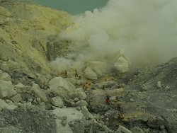 On my way back from the crater of Ijen volcano