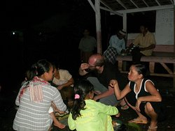 Food celebration and sharing with villagers