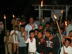 A village celebration One more intense moment to share alone with all of them ! :)