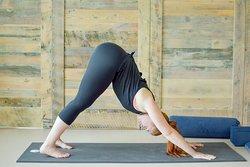 Down dog yoga pose.
