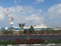 The very busy commercial Port