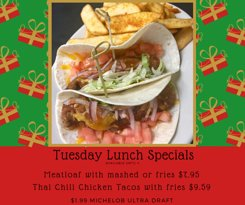 December 2018 Tuesday Lunch Specials