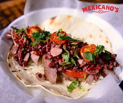 charcoal grilled steak taco