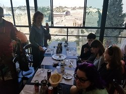 Lunch View in Jerusalem (Mount of Olives)