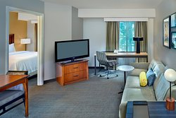 One Bedroom Suite with living space area, pull-out sofa bed accommodates up to 4 people in the room