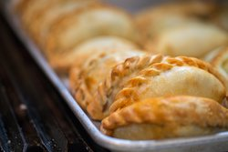 Empanadas baked in our wood burning oven.