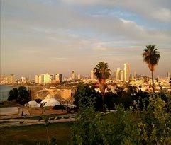 La vista panoramica da old Jaffa sulla nuova TelAviv