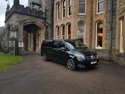 Keith's vehicle at Inverlochy Castle