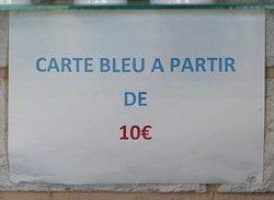 Carte bleu à partir de 10 Euros
