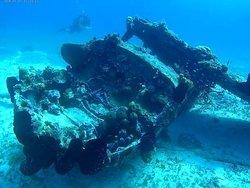 Shallow plane Negril top dive site