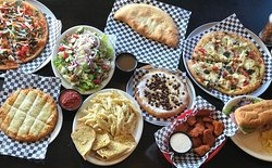 Pizza, Calzones, Wings, Pasta, Sandwiches, Salads, S'mores Pie & More!!