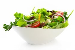 Garden salad, nothing like a fresh made salad prepared from hand torn salad.