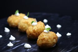 Prawn and squid croquette