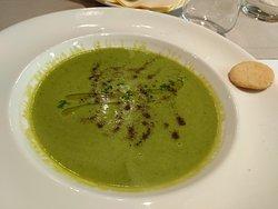 Rikli Balance Hotel, Veranda Restaurant - Pea soup with ginger, mint & chives