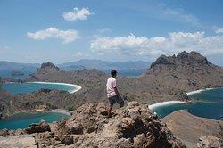 View after trek up Padar island