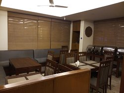 Dining area which is besides reception desk