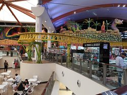 Food court and entertainment area