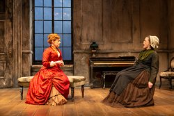 Kellie Overbey and Ann McDonough in A Doll's House, Part 2, photo by T. Charles Erickson