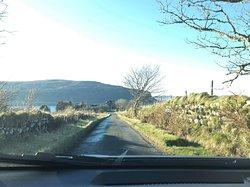 The road towards the Michelin starred restaurant LochBay - just 10 min. from MInt Croft B&B