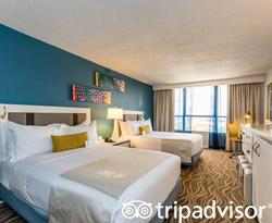 The Two Queen Beds at the Wyndham Lake Buena Vista