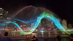 The water and light show.