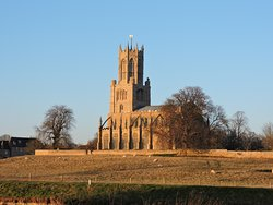 The nearby church of St Mary and All Saints at Fotheringhay