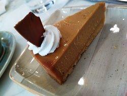 Salted caramel cheesecake at Theos