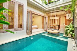 Romantic and Family villa, offer  One Bedroom Villa with Private Pool & Jacuzzi and 2 villas of Two Bedroom Villa with Private Pool & Jacuzzi.