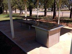 Barbecue facilities at Memorial Park in Jamestown.