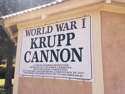 Tourist attraction, The Krupp Cannon at Memorial Park in Jamestown.