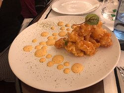 Langostino en tempura