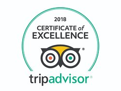 Another Certificate of Excellence, thank you all for rating us on Trip Advisor.