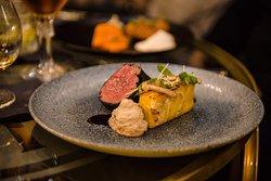 Beef fillet, dauphinoise, mushrooms