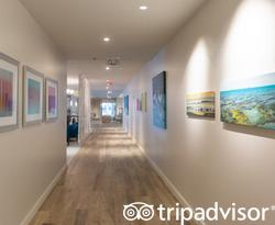 Hallways at the Hawks Cay Resort
