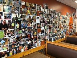 Their photo wall.