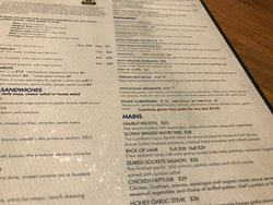 Pricy menu