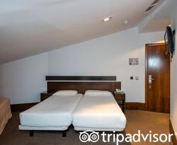 The Twin Room at the Hotel Domus Plaza Zocodover