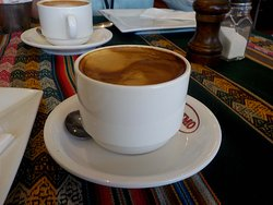 Rich long black coffee