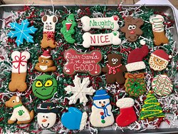 Delicious Christmas cookies from the bakery!