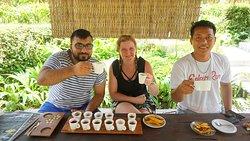 Drinking Luwak Coffee and Bali Coffee. And tasting 12 kinds of Tea.