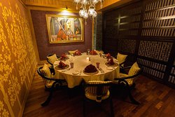 Dine like royalty in complete privacy in the grand dining room; Maharaja