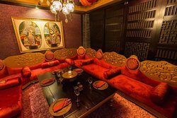 Zameen; enjoy the traditional Indian dining style in this private dining room.