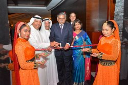 Grand opening of Rivaaj by His Excellency Mr. Alok Kumar Sinha, Ambassador of India to the Kingdom of Bahrain and Mr. Mohamed Jasim Abdulrahman AlZayani.