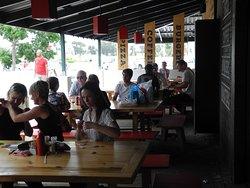 Customers enjoying their meals
