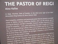 """Textförklaring till Operan """" Pastorn i Reigi"""" ..(utspelar sig på Dagö )"""