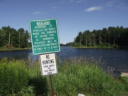 NH - DOVER - WILLAND POND #6 - DOVER SIDE LOT - SIGN SHOWING SOME RULES