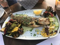 Delicious meal, grouper with vegetables...