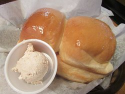 FRESH HOT BREAD ROLLS with CINNAMON SOFT BUTTER ...