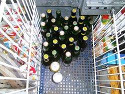 Beer, yogurt and juice cooler.