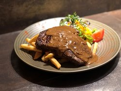Ribeye steak from Buccleugh's on High restaurant